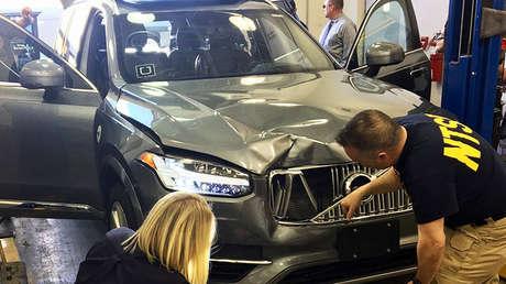 El vehículo autónomo de Uber que atropelló y mató a una mujer en Tempe, EE.UU., el 20 de marzo 2018.