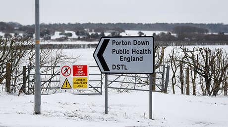 La zona del Laboratorio de Ciencia y Tecnología Porton Down Defense, cerca de Salisbury, el Reino Unido, el 19 de marzo de 2018.