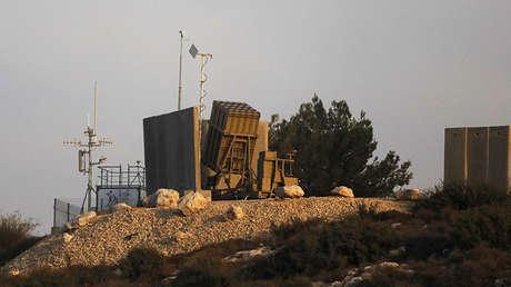 El sistema antimisiles Iron Dome tras su despliegue en el centro de Israel, el 14 de noviembre de 2017.