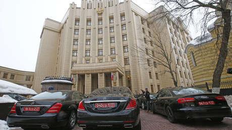 El edificio del Ministerio de Relaciones Exteriores ruso en Moscú.