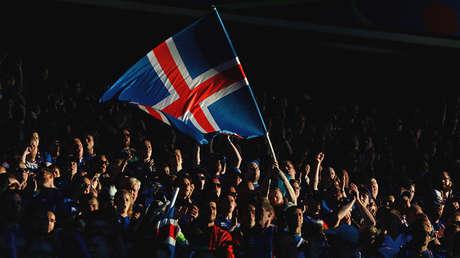 Hinchas islandeses.