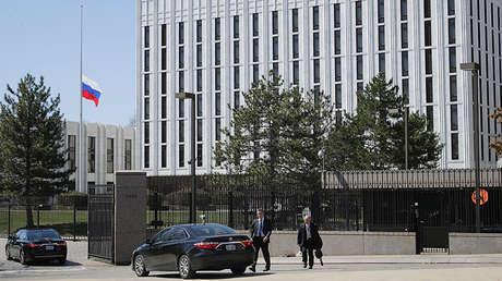 La Embajada de Rusia en Washington, EE.UU. 26 de marzo de 2018.