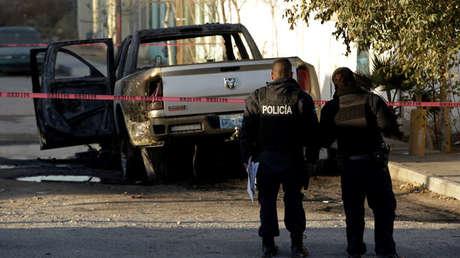 Policías mexicanos en la escena de un crimen, en Ciudad Juárez, México, el 8 de enero de 2018.