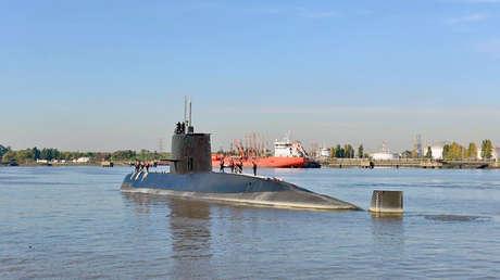 El submarino ARA San Juan en Buenos Aires el 18 de noviembre de 2014.