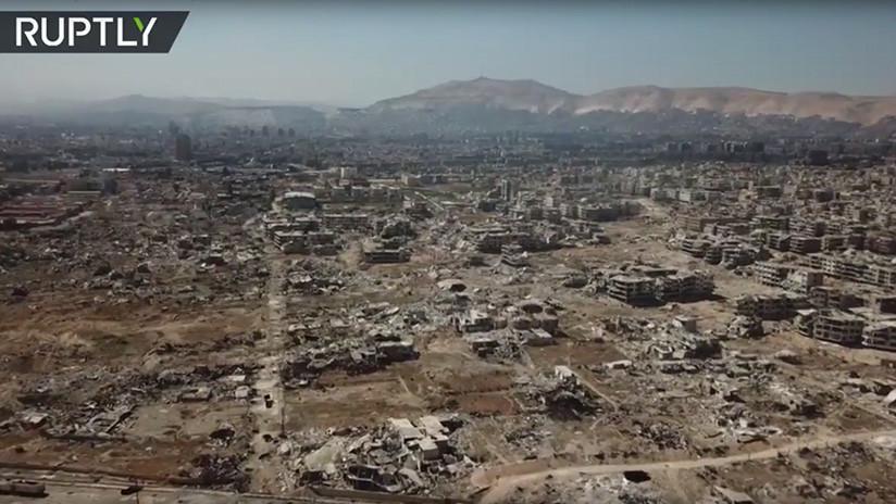 A vista de dron: Así se ve esta autovía clave siria sin rebeldes tras siete años de bloqueo (VIDEO)