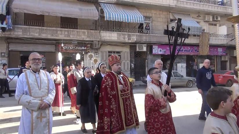 La comunidad cristiana celebra la Pascua en Siria (FOTOS, VIDEO)