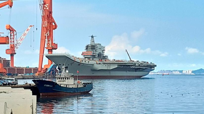 China ultima su primer portaviones de producción doméstica para pruebas marítimas