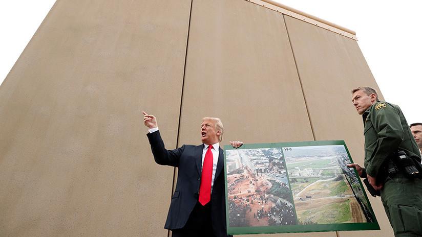 """Trump elogia con fotos la """"construcción"""" del muro fronterizo... que aún no ha comenzado"""
