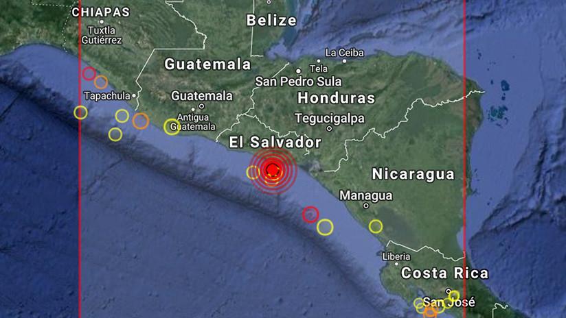 Se registra un sismo de magnitud 6,0 en El Salvador