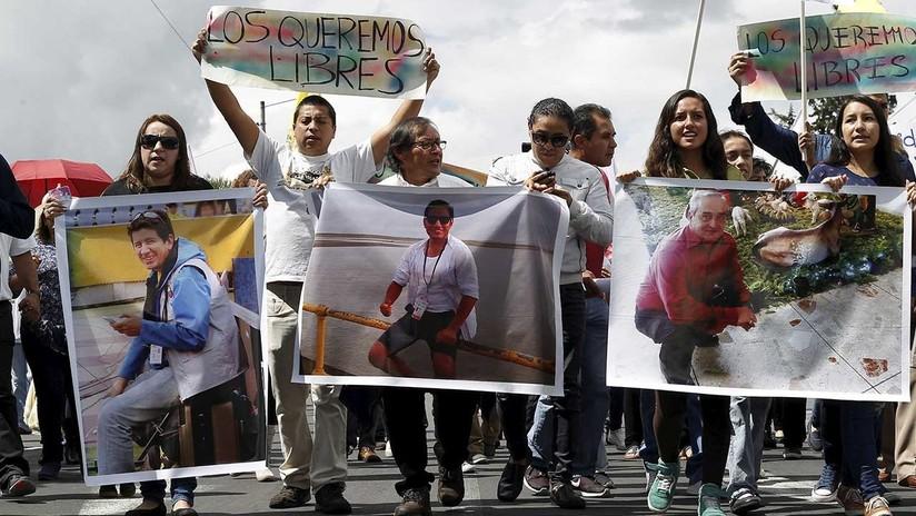 Los periodistas secuestrados en Ecuador lanzan un mensaje al Gobierno en un video
