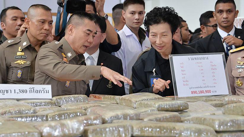 FOTOS: Confiscan en Tailandia un cargamento de droga valuado en 54 millones de dólares
