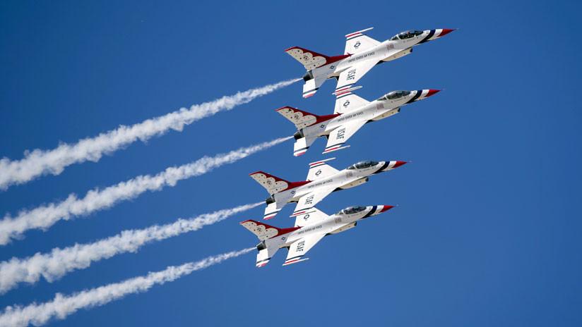 Muere piloto de la Fuerza Aérea de EE.UU. al estrellarse su avión F-16 Fighting Falcon