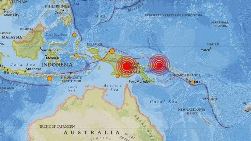 Se registran dos fuertes sismos en Papúa Nueva Guinea