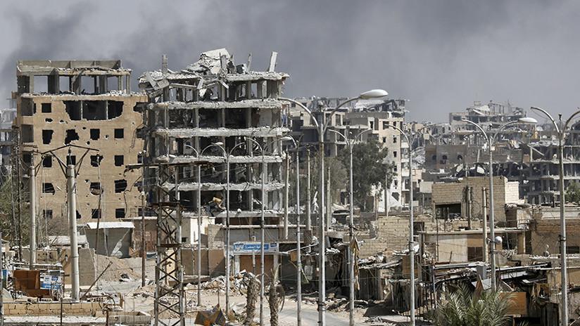 Revelan fotos de los barrios de Raqa destruidos por las bombardeos de la coalición de EE.UU.