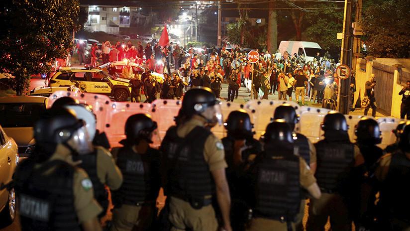 Brasil: Al menos 8 heridos en choques entre manifestantes y Policía tras el arresto de Lula da Silva