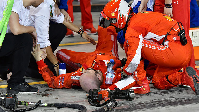 Fórmula 1: Raikkonen atropella a un mecánico de su equipo y le fractura una pierna (VIDEO 18+)
