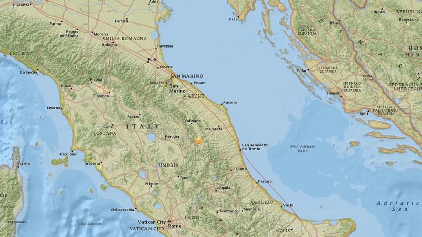 Un temblor de magnitud 4,7 sacude el centro de Italia