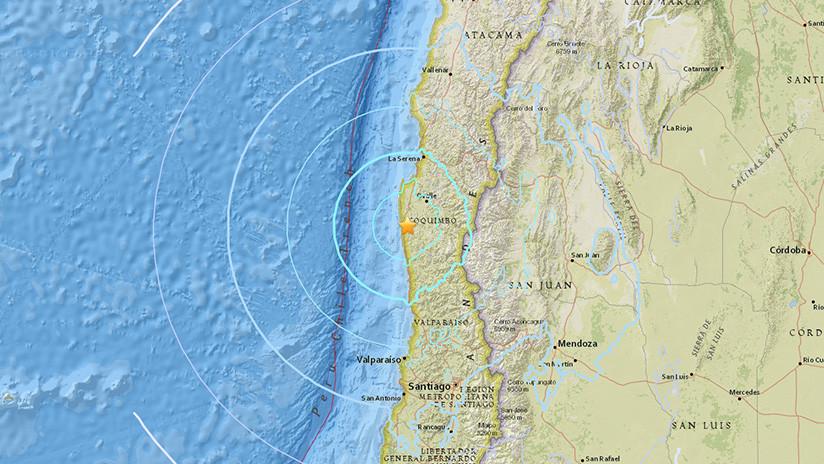 Un sismo de magnitud 6,2 se registra en Chile