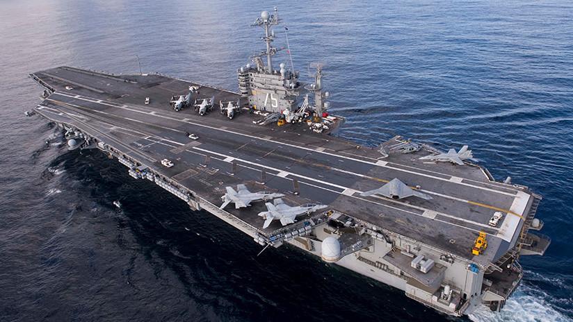 Un grupo de ataque de la Marina de EE.UU. se dirige al mar Mediterráneo