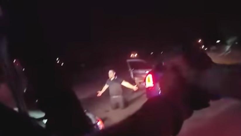 FUERTE VIDEO: Policías de Las Vegas matan a tiros a un conductor arrodillado