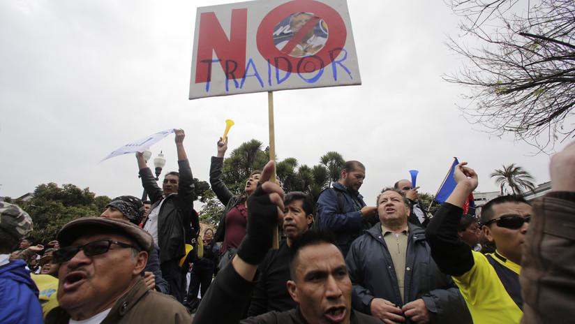 #Basta: La primera marcha contra el Gobierno de Lenín Moreno en Ecuador