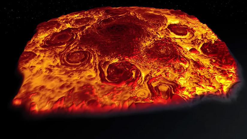 VIDEO: Disfruten un espectácular vuelo en 3D por encima de Júpiter