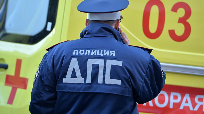 Un muerto y varios heridos en un choque de un autobús con niños a las afueras de Moscú (VIDEO)
