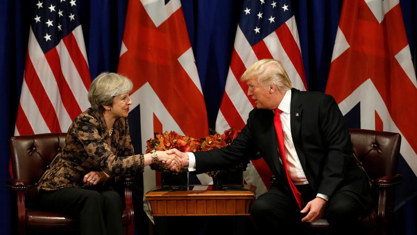 Trump y May acuerdan colaborar para responder al supuesto uso de armas químicas en Siria