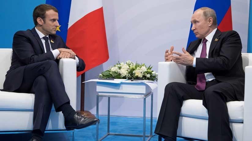 """Macron quiere """"intensificar el diálogo"""" con Rusia sobre Siria"""