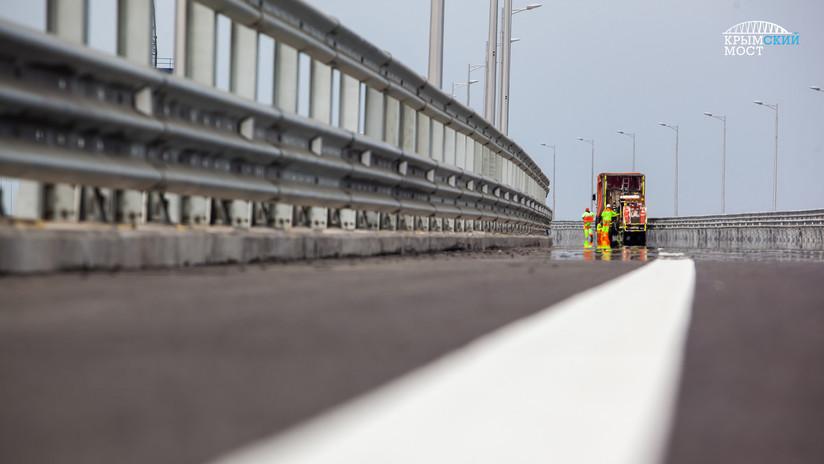 VIDEO: Arranca la etapa final de los trabajos del puente de Crimea