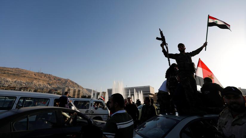 FOTOS, VIDEOS: Los sirios protestan en Damasco contra el ataque de EE.UU. y sus aliados