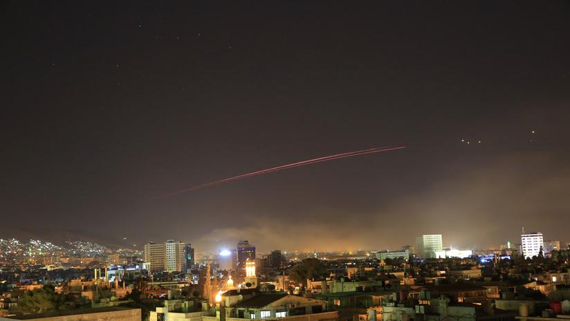PRIMERAS IMÁGENES: Misil de crucero de EE.UU. derribado por el sistema antiaéreo sirio
