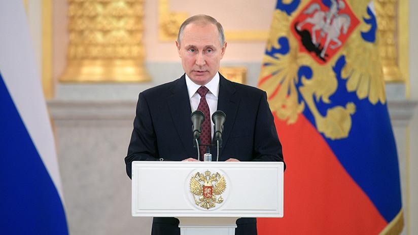 """Putin: """"EE.UU. consiente a los terroristas y agrava la catástrofe humanitaria con el ataque a Siria"""""""