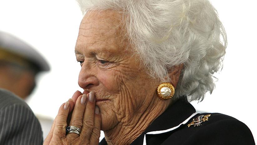 Barbara Bush se niega a recibir tratamiento médico pese a sus problemas de salud