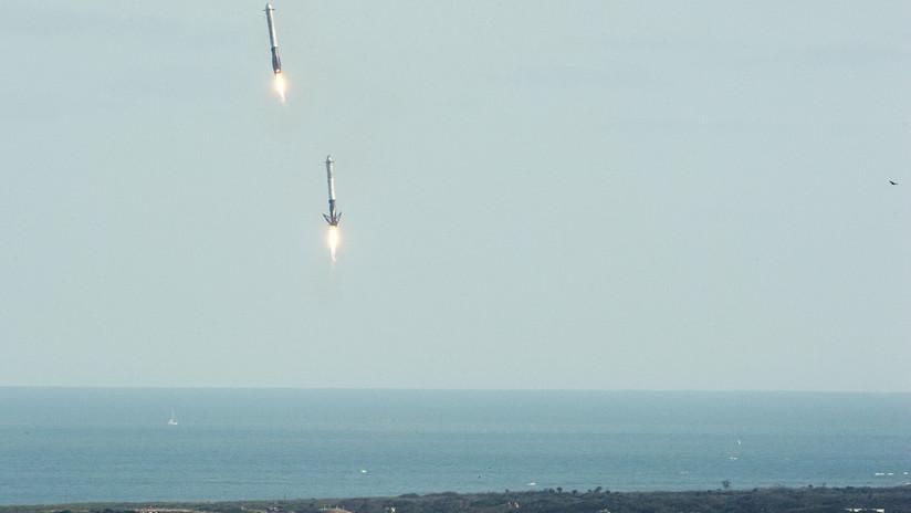 """SpaceX usaría """"globos gigantes"""" para bajar a tierra etapas superiores de sus cohetes"""