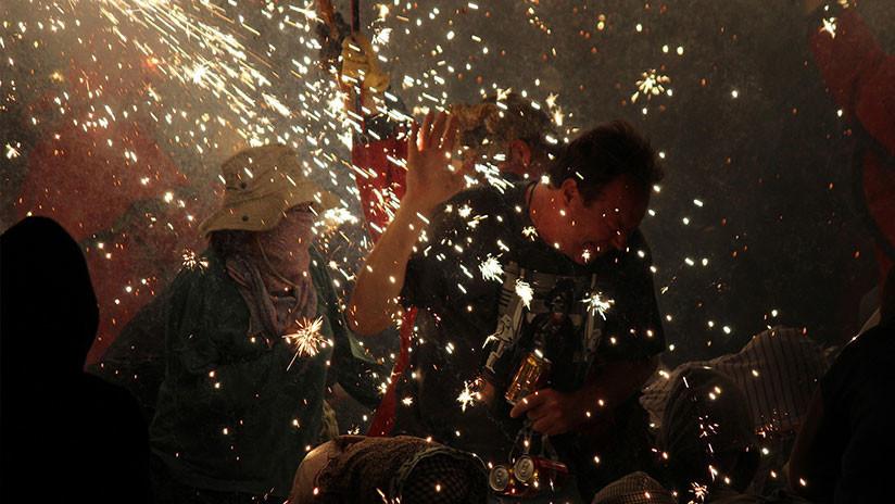 VIDEO: Incendio convierte en infierno la celebración de una boda en México