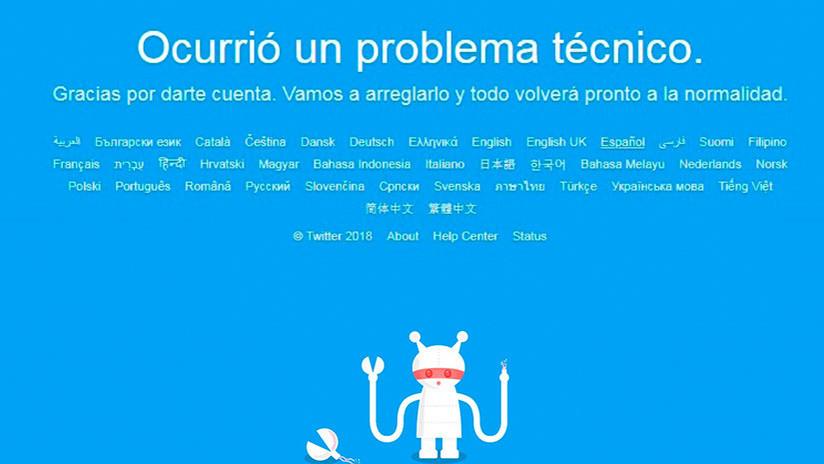 Reportan una caída de Twitter en varios países