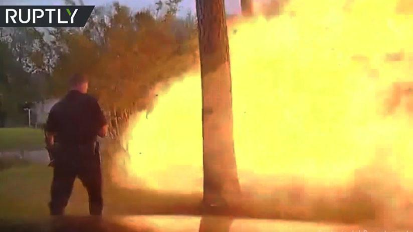 Mira el video de la explosión de una casa en Texas