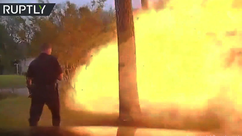 VIDEO: Policía de Texas difunde espectacular grabación del momento en que una casa explota