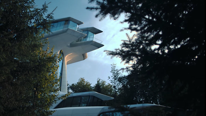VIDEO: Esta es la casa árbol de estilo futurista 'plantada' a las afueras de Moscú