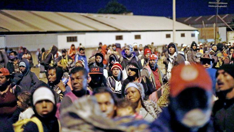 Integrantes de la Caravana Migrante llegan a la frontera entre México y EE.UU. a pesar de Trump