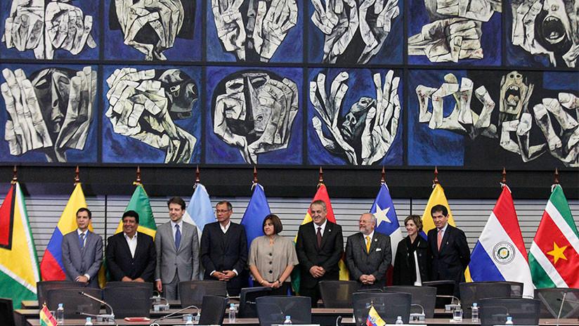 Perú: Seis países instan a la reactivación inmediata de la Unasur
