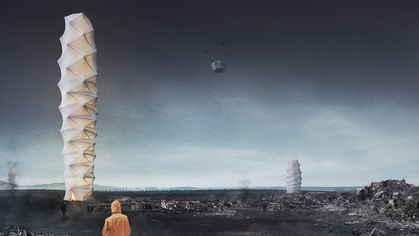 Rascacielos 'de quita y pon': Edificios móviles y plegables podrían dar refugio en zonas de desastre