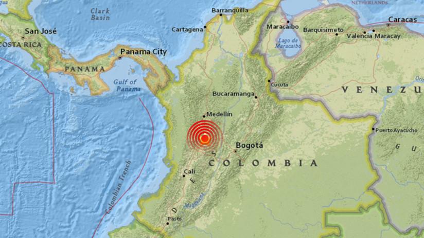 Un sismo de magnitud 5,4 sacude varias regiones de Colombia