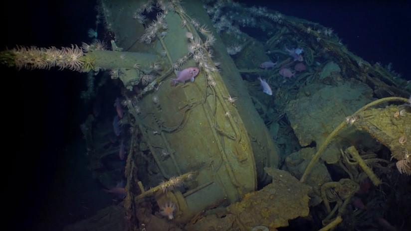 VIDEO: Un dron filma en aguas profundas imágenes de un submarino de la Primera Guerra Mundial