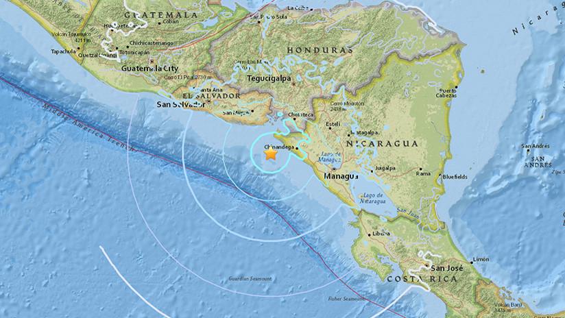 Un sismo de magnitud 5,6 sacude la costa oeste de Nicaragua