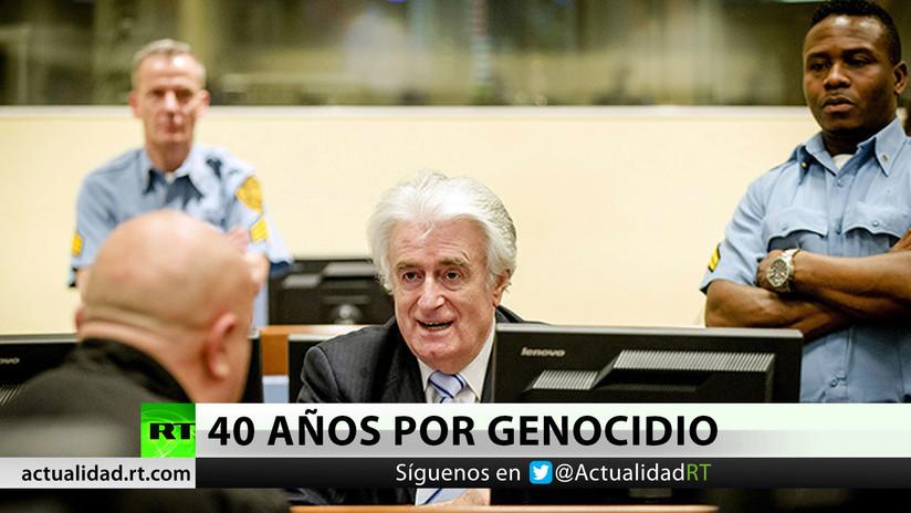 Exdirigente serbobosnio apela su condena de 40 años por genocidio