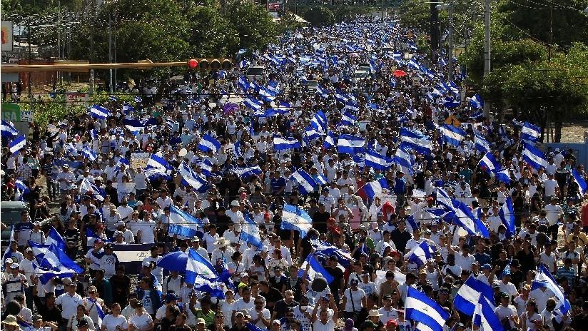 ¿Pasos hacia la paz? Nicaragua vive otra jornada de marchas multitudinarias y llamadas al diálogo