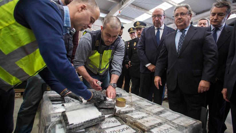 Confiscado en España el mayor alijo de cocaína de toda su historia