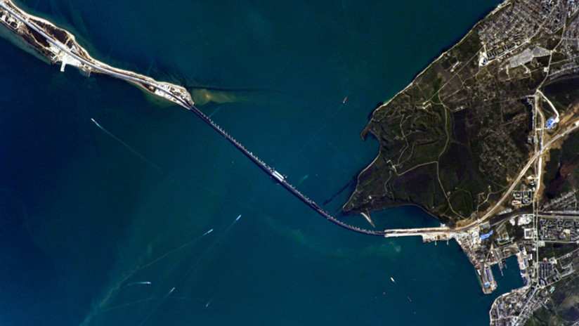 FOTOS: Cosmonauta ruso muestra imágenes del puente de Crimea tomadas desde la EEI